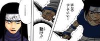 Orochimaru paralisa Sasuke e Sakura (Mangá)