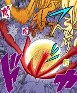 Rasengan de Padre e Hijo Versión de Minato y Naruto Manga 2