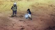 Sasuke treinando seu Chidori