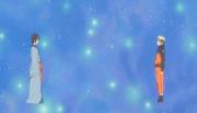 Utakata conversando com Naruto