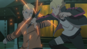 Naruto and Boruto train