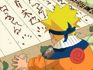 Naruto assinando o contrato