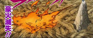 Elemento Fuego Destrucción Magnífica de Fuego Manga