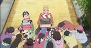 Naruto recibiendo regalos
