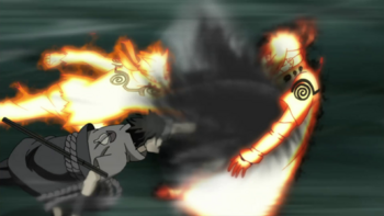 Though Minato is the one initially struck by the technique…