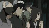 Os jovens durante o ataque da kyubi