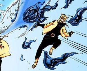 Arte Sabio Rasen Shuriken de Elemento Fuego Manga