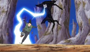 Elemento Rayo Oscuridad Falsa Anime