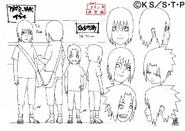 Arte Pierrot - Itachi e Sasuke jovens