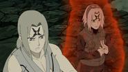 Sakura e Tsunade usando o Byakugo no In (Anime)