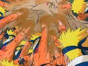 Combo de los Dos Mil Golpes de Naruto Uzumaki Anime 1