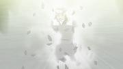Hiruzen diciendo sus últimas palabras al Equipo Kakashi