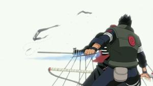 Cuchilla de Chakra Línea Recta Anime