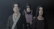Fugaku y Mikoto se despiden de su Itachi antes de ser asesinados