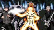 Naruto ajudando a divisão de Mifune