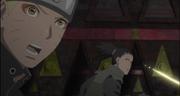Naruto detectando la ubicacion de Hanabi