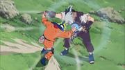 Naruto usando el Rasengan por primera vez