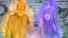 Naruto y Hinata unen sus chakras