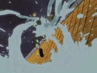 Liberação de Água - Lança de Gotículas (Tobirama - Anime)