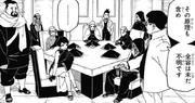 Los kages escuchando la explicación de Katasuke