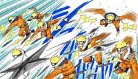 Shuriken de Todas as Direções Colorido