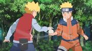 Boruto treinando com Naruto