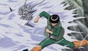 Destructiva Roca Ascendente de la Hoja Anime