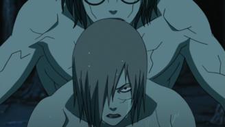 Kabuto using Sakon's and Ukon's powers