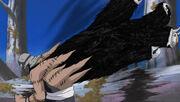Kakuzu liberando a sus corazones