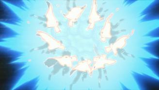 Konoha 11 attacking Obito