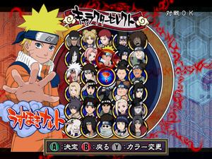 Naruto Gekitō Ninja Taisen 3 personajes