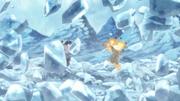 Naruto e Sasuke quebram a prisão de gelo