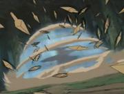 Neji se Protege del Ataque de Kidōmaru