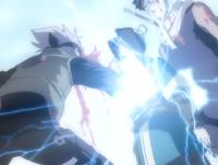 Kakashi stabs Haku
