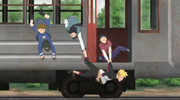 Boruto and Denki saved by Denki's bullies