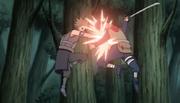 Gari atacando um shinobi