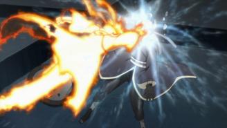 Naruto hits Tobi