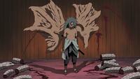 Sasuke en el Nivel 2 del Sello Maldito del Cielo