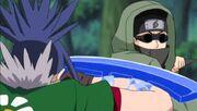 Shino contra el Clon de Guren