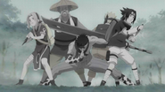 Zabuza surpreende o Time 7