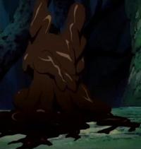 Orochimaru usando Doton Kage Bunshin