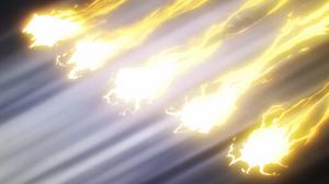 Técnica Secreta Improvisada Jutsu Shuriken de Esfera Relámpago