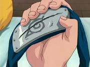 Hitai-ate de Sasuke riscado