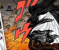 Kaguya é atingida pelo Amaterasu