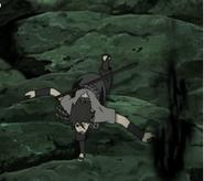 Sasuke usando Enton Kagutsuchi
