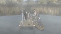 Yukimaru entra no barco rumo ao Sanbi