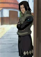 Fugaku con su uniforme de la Policía Militar de Konoha