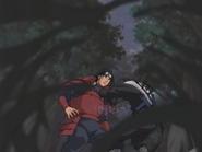 Hiruzen removendo a alma de Hashirama