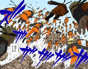 Jutsu Multiclones de Sombras Manga