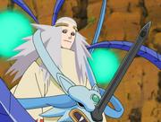 Seimei usando sua armadura